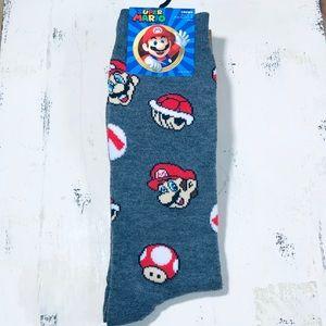 Adult Super Mario Bros & Mushroom Crew Socks